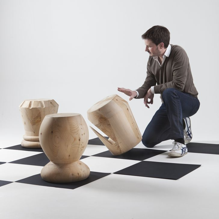 Chess Stools by Giorgio Bonaguro