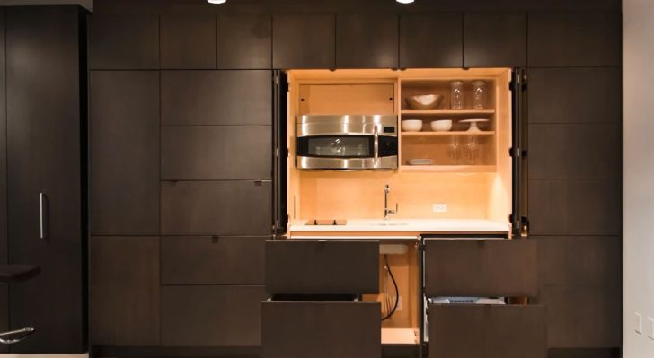 Clever Stealth Kitchen