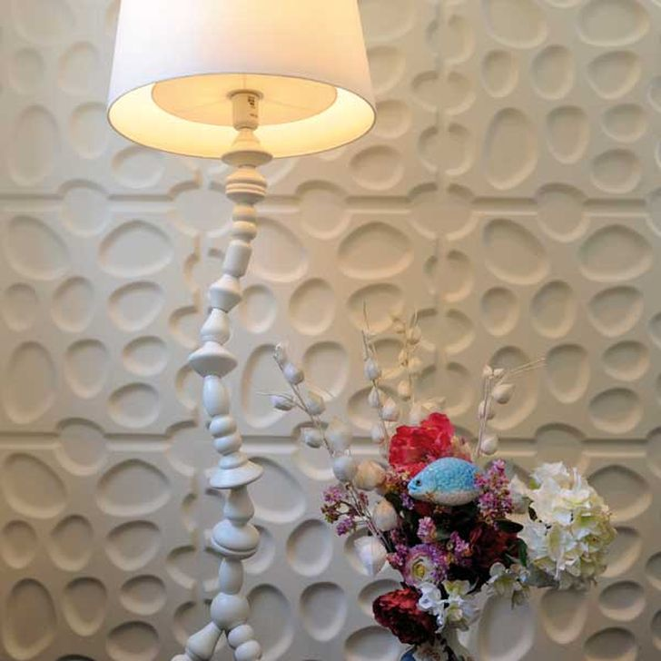 3d Decorative Wall Panels 3d Wall Panels with Unique Table lamp and Flower