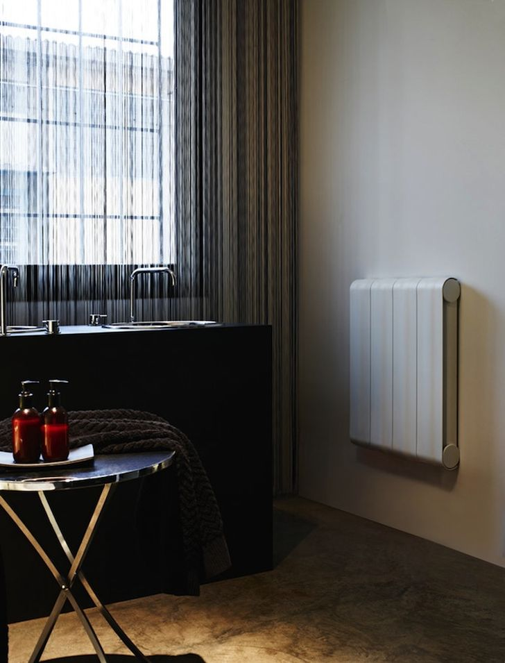 Aluminium Radiators in Agora Collection Detail Agora Radiator in Bathroom