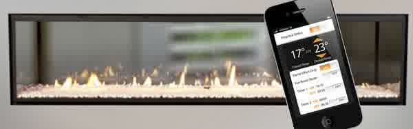 Escea Gas Fireplace Escea Fireplace Controlled by Smart Phone