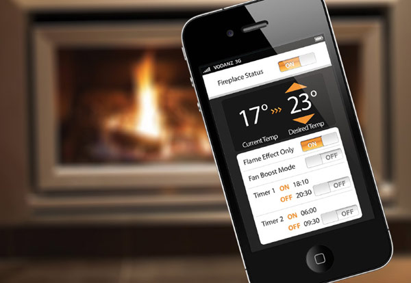 Escea Gas Fireplace Escea Fireplace Remoted by Smart Phone