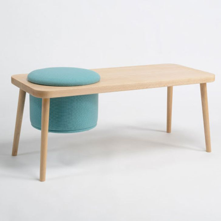 Step Bench Four Legged Bench with Stool Fit the Hole of Seat