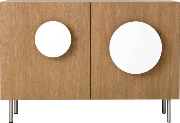 Bold1 Modern Cabinet Wite Round Wooden Cabinet Doors Handles