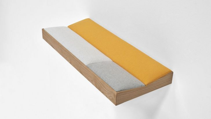 SNUG Shelf with Soft Cushions Yellow Short SNUG Shelf with Soft Cushions