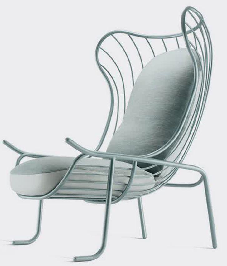 arpa upholstered metal frame