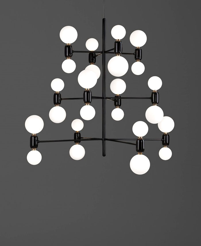ABALLS Lamps Collection Beautiful Black Aballs Chandelier Lamps