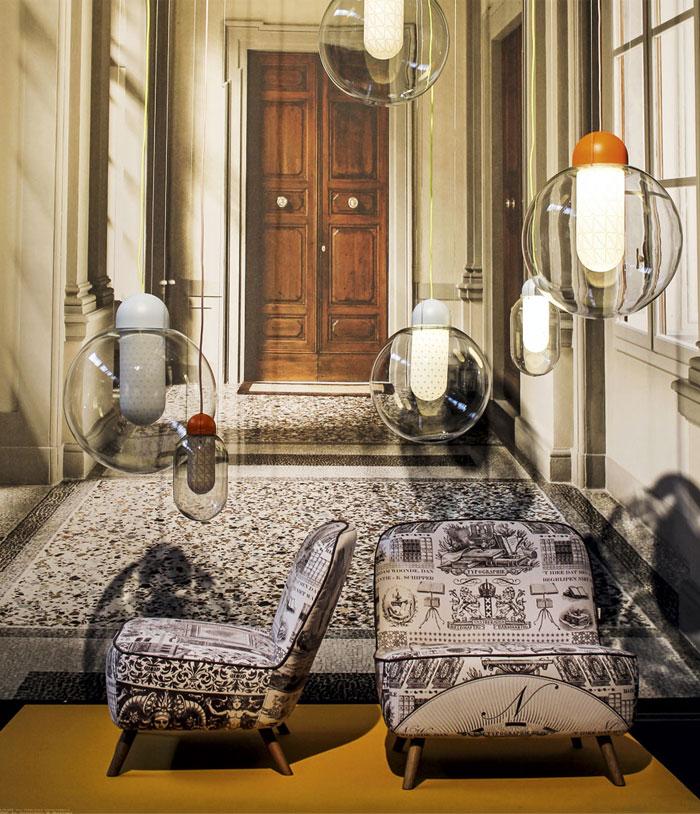 Milan Design Week Beautiful Pendant Lamp at Furniture Shown Milan Design Week