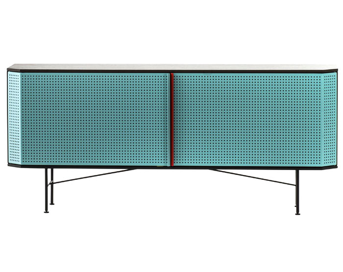 Milan Design Week Black Framed Metal Cabinet with Two Storage