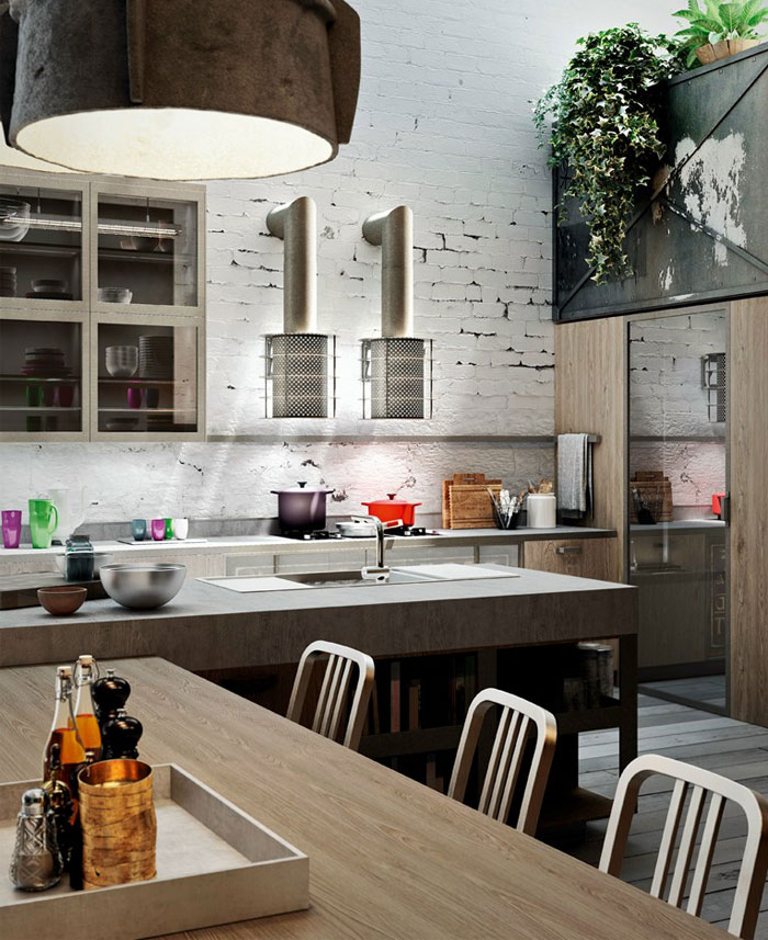 Modern Loft  Kitchen Design by Michele Marcon Suburban Loft Kitchen Container Modules