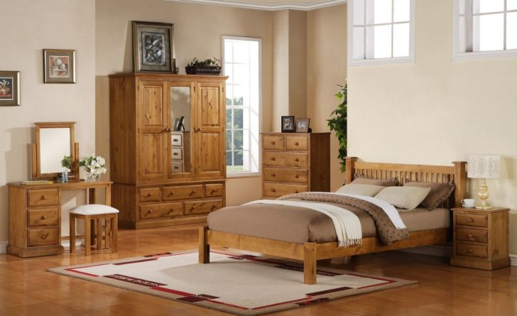 Pine Wood Furniture Decorative Pinewood Furniture for Bedroom Sets-Nightstand and Table Lamp-Pine Cupboard and Cabinet