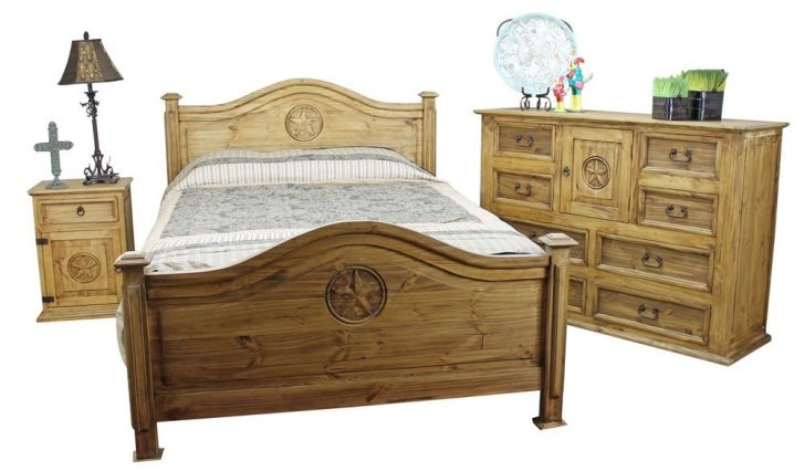 Pine Wood Furniture English Pinewood Bedroom Furniture Sets-Nightstand and Table Lamp-Pine wood Cabinet