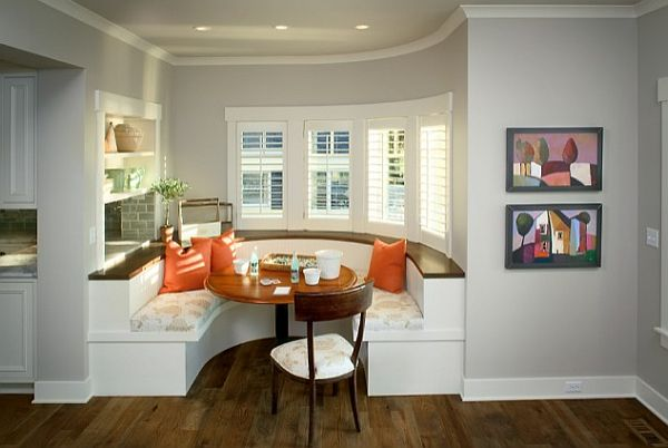 Breakfast Nook furniture Kitchen Built-in Booth Family and Friendly in Dining Area