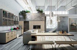 Modern Loft Kitchen Design by Michele Marcon Modern Loft with Nordic Style Kitchen