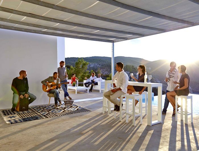 An Odyssey Outdoor Furniture Outdoor Furniture by Gandia Blasco in Islands of Ibiza