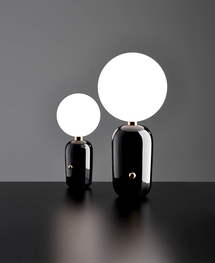 ABALLS Lamps Collection Stylish Black Aballs Table Lamp