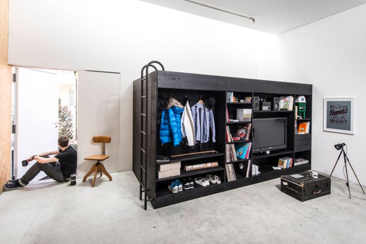 multifunctional furniture for small spaces-The-Living-Cube-by-Till-Konneker-with-Storage-Room