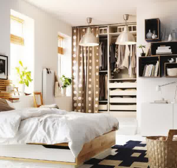 ikea-bedroom-design-ideas-contemporary-ikea-bedroom-furniture-with-mendal-bed-frame-hanging-light-wooden-bookshelf