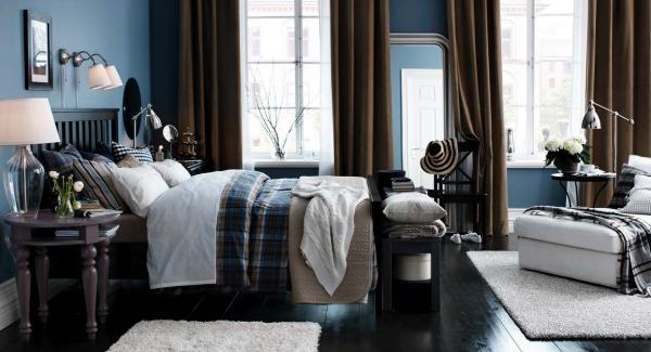 ikea-bedroom-design-ideas-dark-wood-ikea-bedroom-design-brown-drapes-feminine-taouch-hemnes-bed-frame