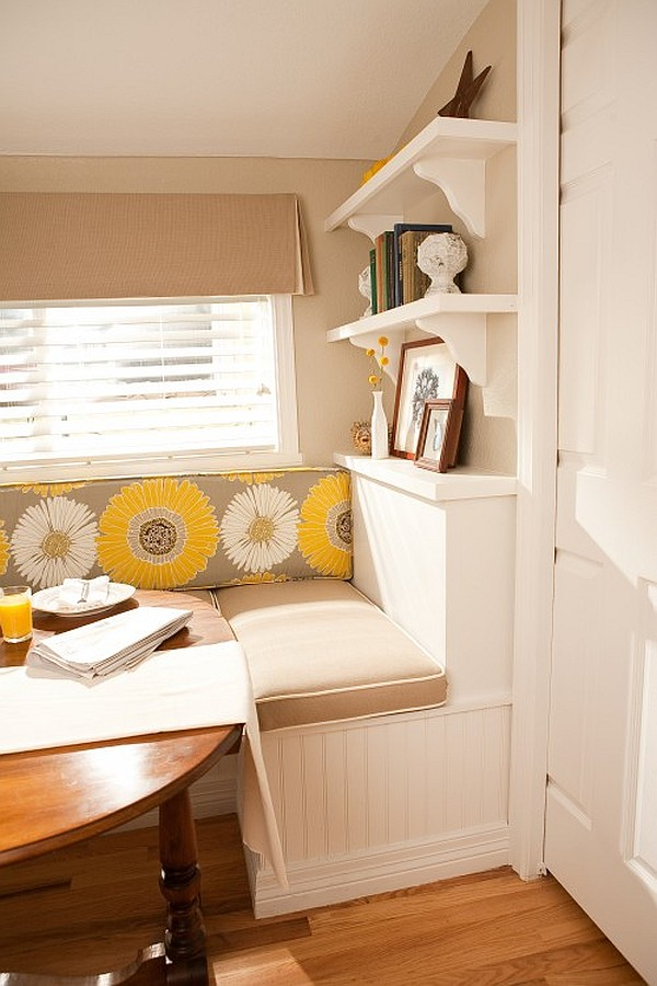 Breakfast Nook furniture denver-lofty-dining-area-with-breakfast-nook-with-round-wooden-table