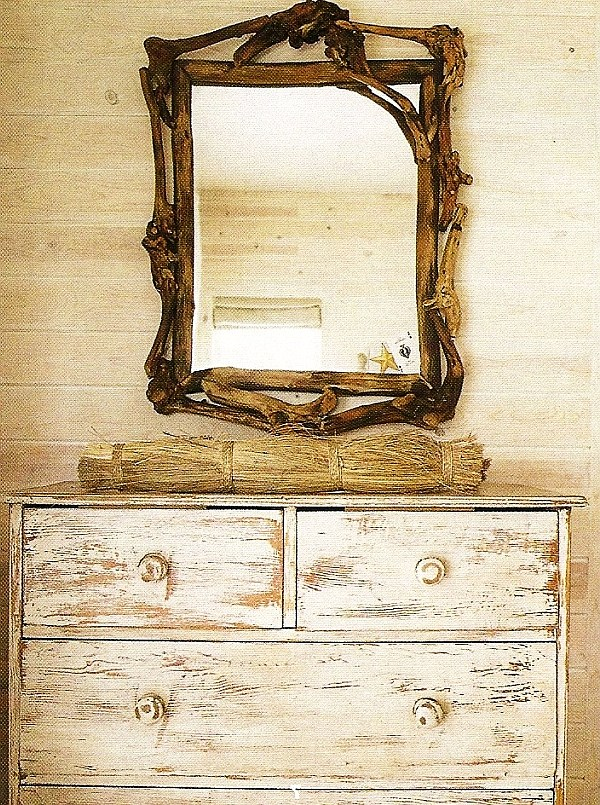antique distressed furniture diy-distressed-dresser-design-with-carved-square-mirror