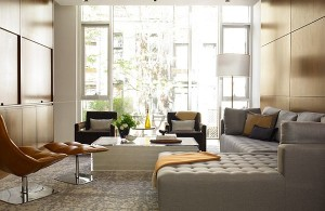 how-to-make-cheap-furniture-look-expensive-elegant-living-room-with-tufted-sectional-l-shaped-sofa-and-glass-table-grey-cushion-white-framed-glass-door