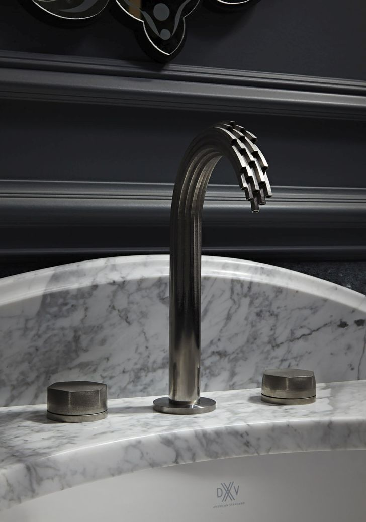 3d-printed-faucet-intricate-latticework-3D-faucets-design-on-marble-countertop-from-DVX-by-American-Standard