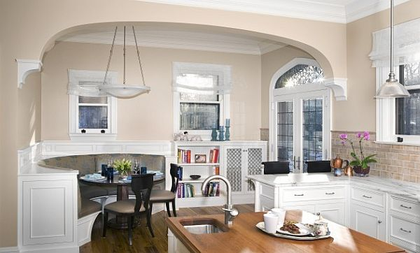 Breakfast Nook furniture large-kitchen-design-with-fancy-breakfast-nook-bench with back