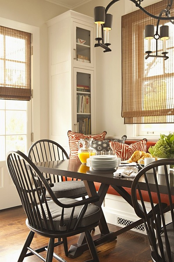 Breakfast Nook furniture los-angeles-traditional-dining-room-breakfast-nook-with-chandelier-and-dark-wooden-dining-furniture-set