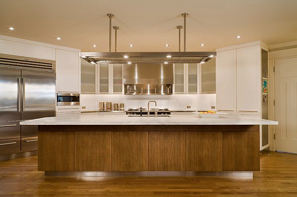 shaker-style-furniture-modern-kitchen-shaker-style-paneling-with-white-paint-metal-hood-and-frosted-glass-cabinet-door