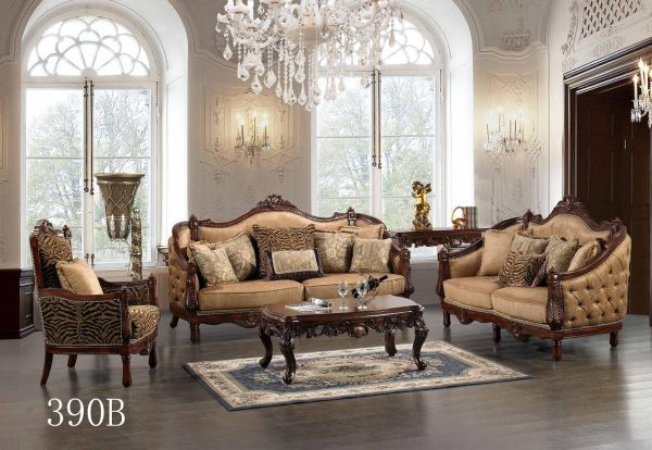 traditional-living-room-furniture-traditional-european -living-room-furniture-with-luxury-lamps-and-gray-floor-hanging-crystal-light-white-arch-window