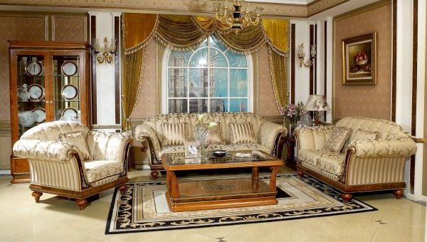 traditional-living-room-furniture-traditional-wood-living-room-furniture-glass-cabinet-arch-window-decorative-fruit-painting