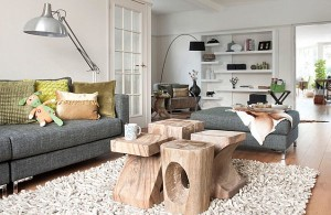 how to choose coffee table white-living-room-designs-with-sculpted-logs-as-coffee-table-and-white-rug-floor-lamp-arch-lamp-white-bookshelf
