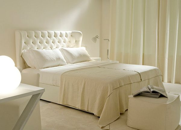 Refinish Cheap Furniture how-to-make-cheap-furniture-look-expensive-white-tufted-headboard-bedroom-design-with-white-night-stand-and-table-lamp-long-white-curtain