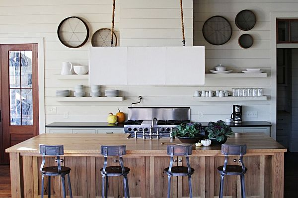 shaker-style-furniture-wooden-shaker-style-kitchen-cabinets-with-bar-chair-coffee-maker-white-wall-kitchen-appliances-shelf