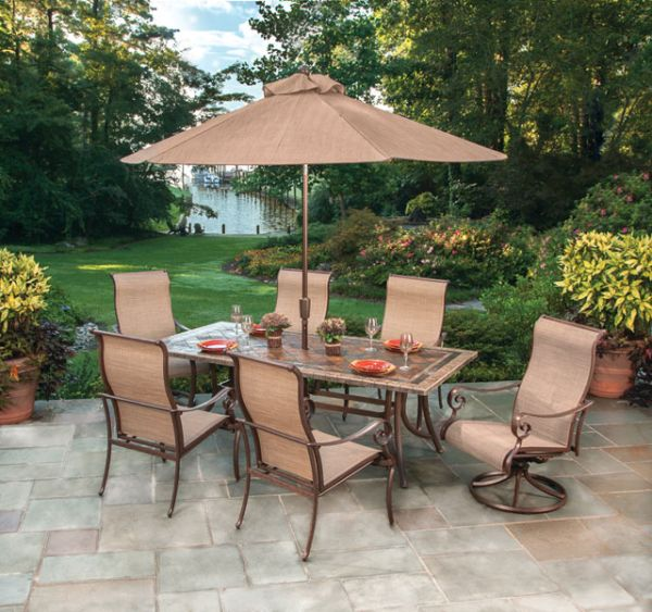 Agio Burgundy Patio Furniture Set Homes Furniture Ideas