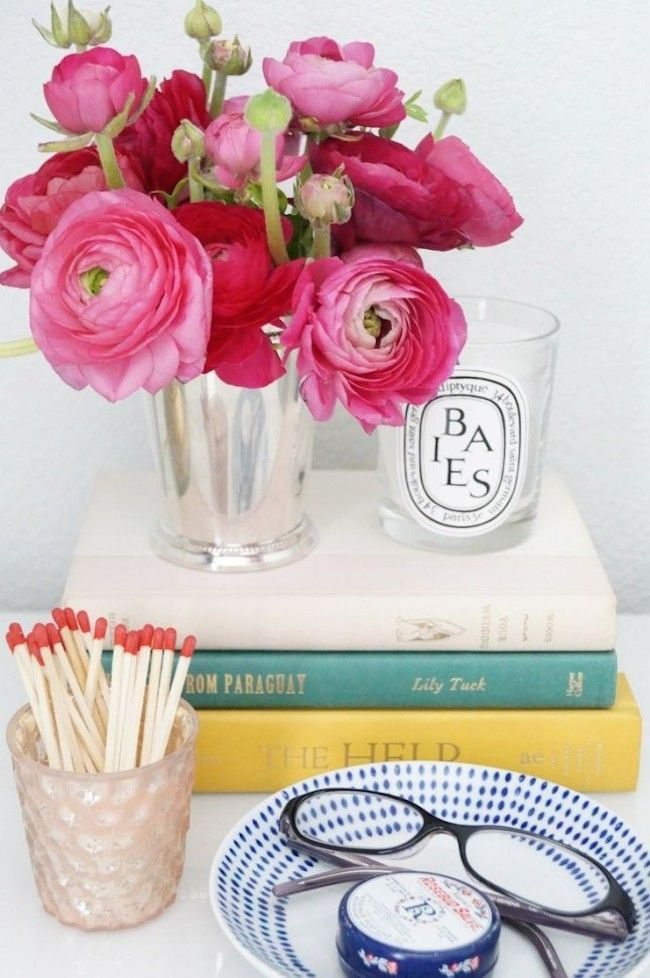 bedside-nightstands-decoration-ideas-Candle Nightstand with Matches for Easy Lighting