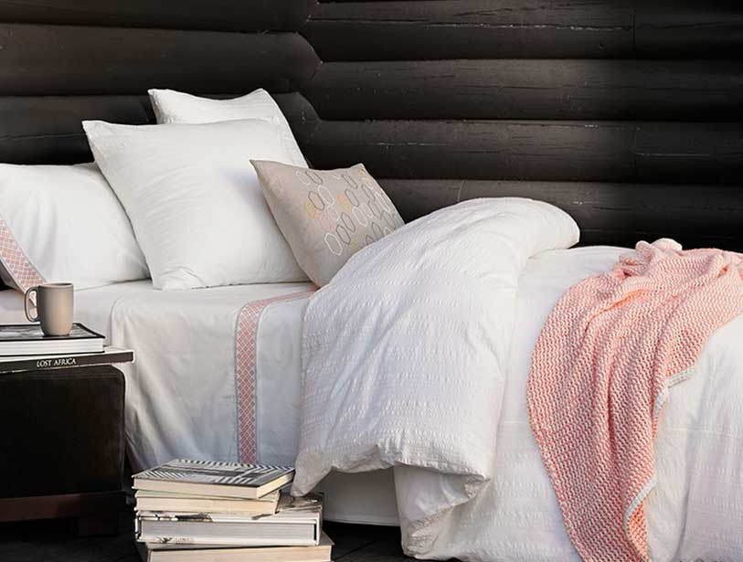 Organic Bedding Options-Coyuchi-Diamond-Peach-Organic-Cotton-Bedding