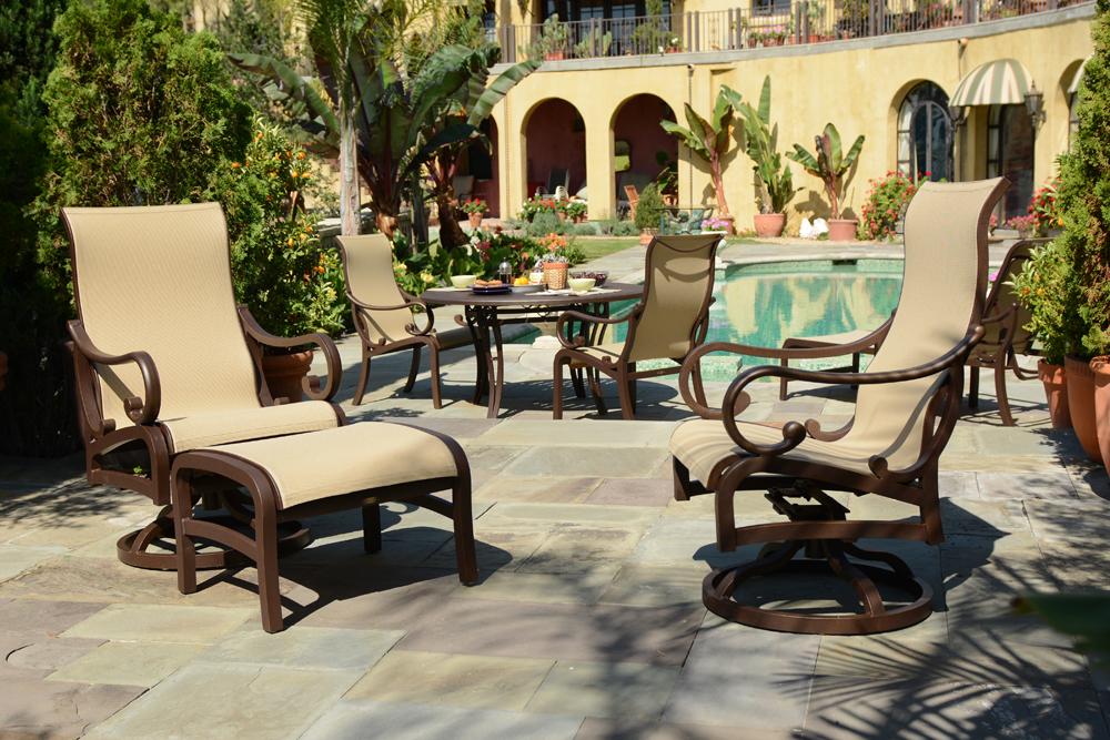 mallin patio furniture mallin celaya sling seating dining furniture