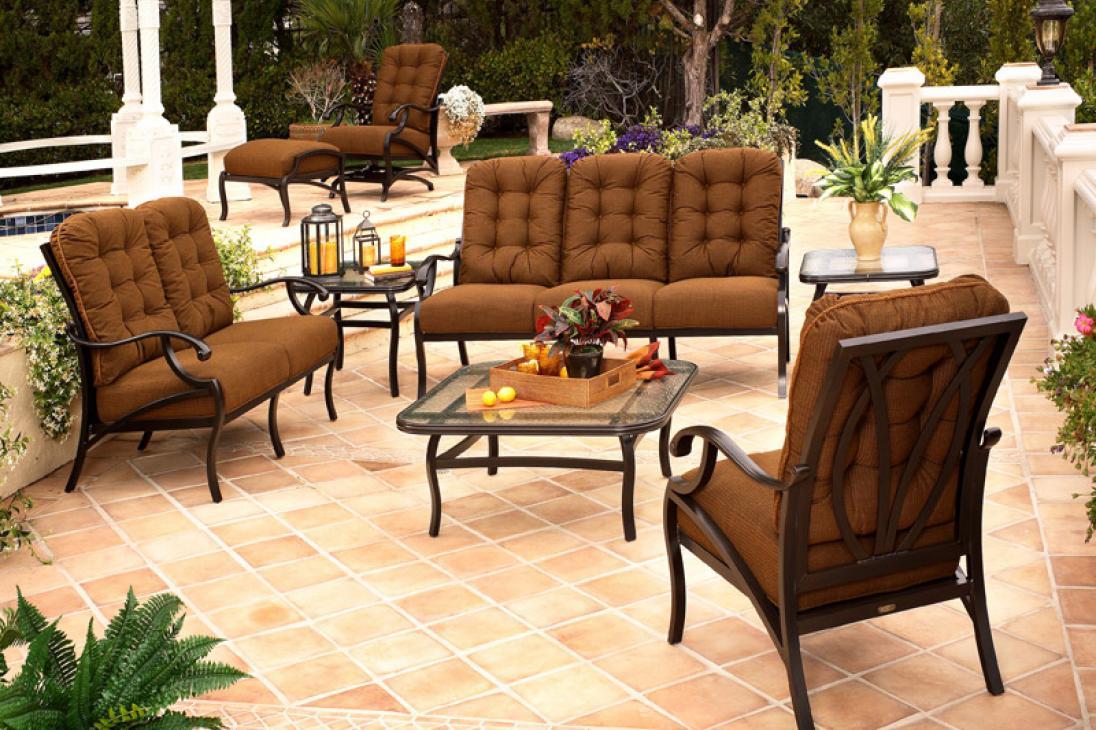 mallin patio furniture mallin volare circular cushion seating patio furniture
