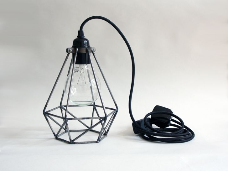 desk-lighting-ideas- rough-diamond-cage-black-desk-lamp-office