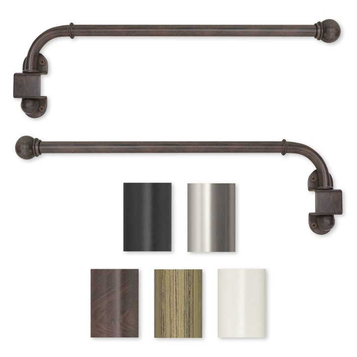 Swing Arm Curtain Rod Restoration Hardware-Swing Arm 14 to 24-inch Adjustable Curtain Rod