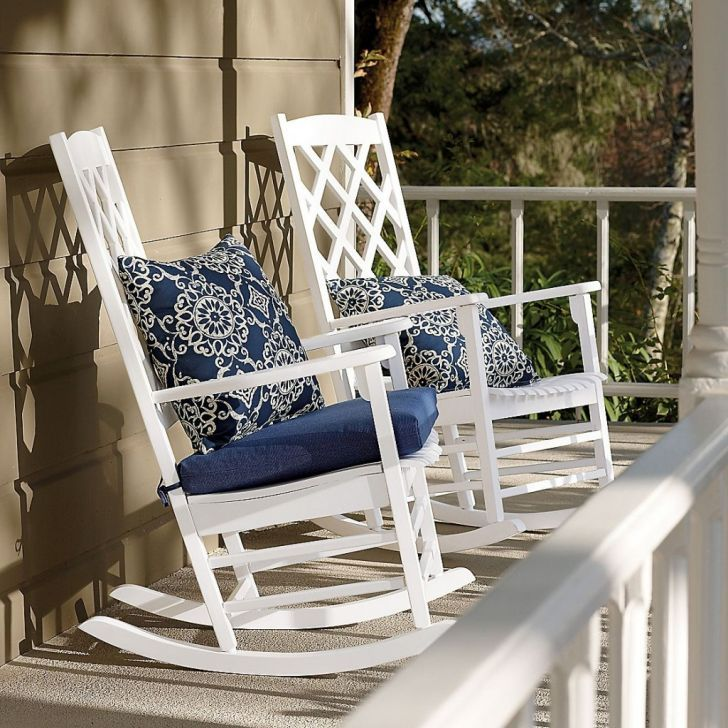 Polywood Patio Furniture-White Polywood Patio Rocking Chair