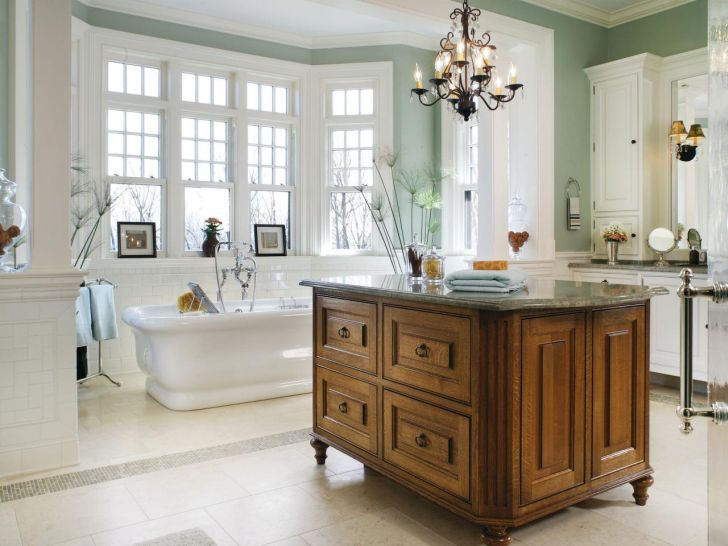 bathroom-chandelier-lighting-bright-bathrom-design_with_decorative-chadelier-lighting_and_wooden-cabinet_white-bathub_white-wooden-storage_white-framed-windows
