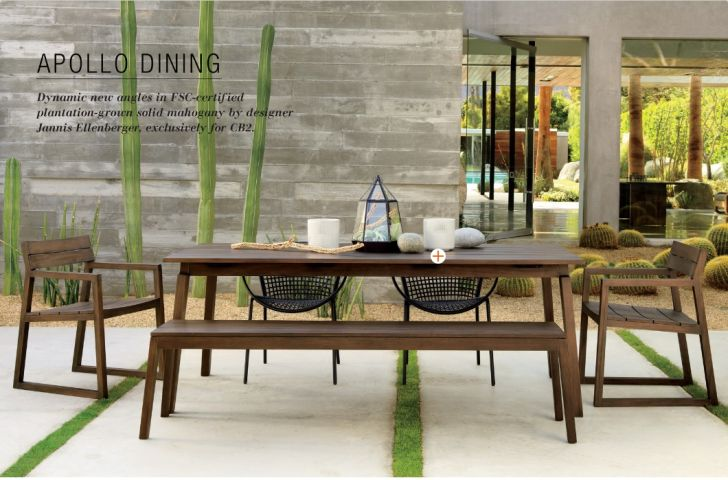 CB2 Outdoor Furniture Apollo Dining Furnishing