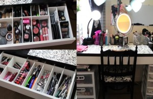 Charming and Lovely Black IKEA Makeup Organizer with Drawer and Storage