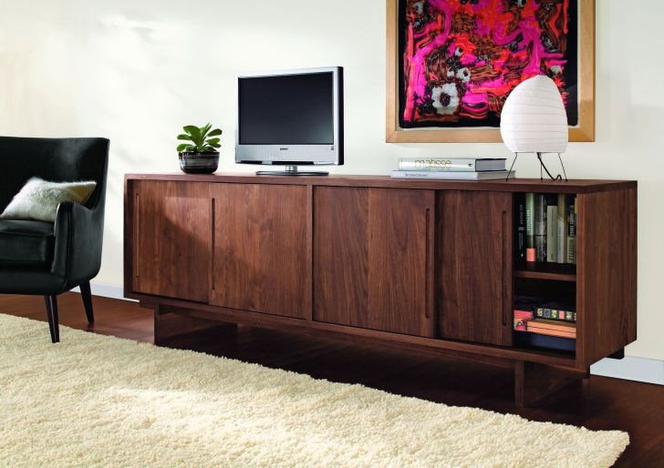 Mid Century Modern Media Console Cheap Mid-20th Century Modern Media Console Anders Line Made of Solid Hardwood