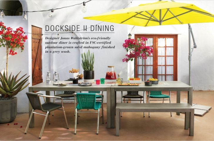 CB2 Outdoor Furniture Dockside II Dining Furniture