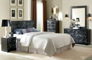 Furniture Stores in Lexington KY Elegance Black and White Marble Bedroom Suite by American Freight Furniture