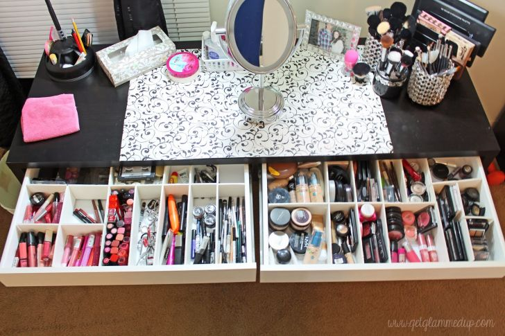 IKEA Makeup Vanity Organizer with DIY Custom Drawer